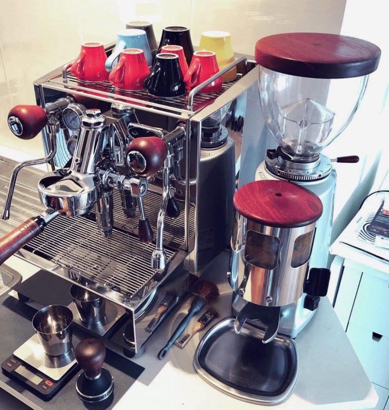 Alex Duetto v3 Custom Jarrah Wood Coffee Parts