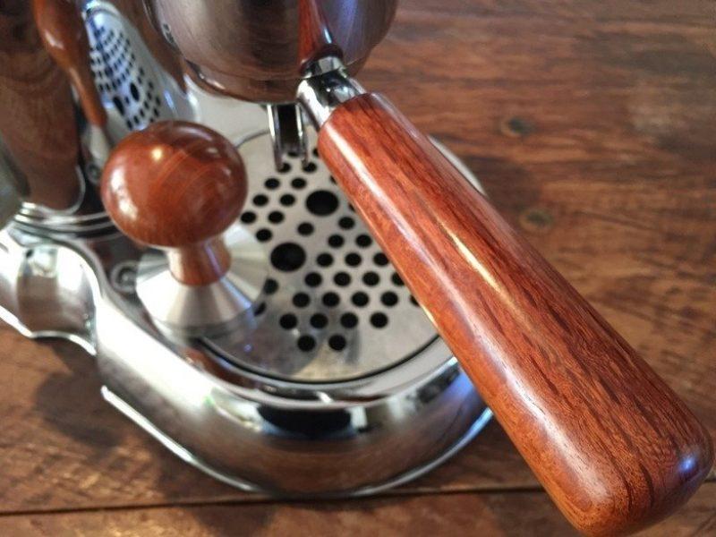 Handmade La Pavoni Professional Hardwood Wilcox Coffee Parts