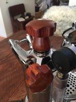 Handmade La Pavoni Professional Wooden Coffee Parts
