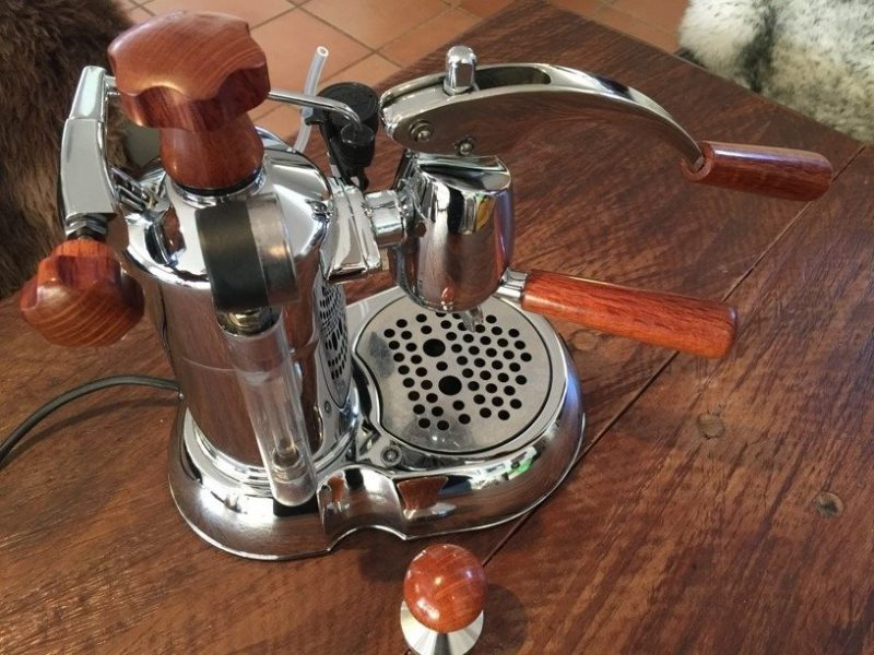 Handmade La Pavoni Stradivari Sheoak Leon Wilcox Wood Coffee Parts