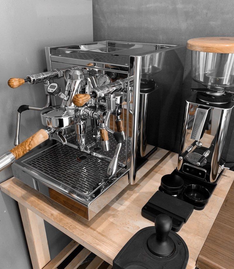 ECM Synchronika Custom Olivewood Coffee Parts