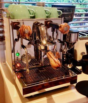 Profitec Pro Handmade Custom Olivewood Espresso Parts