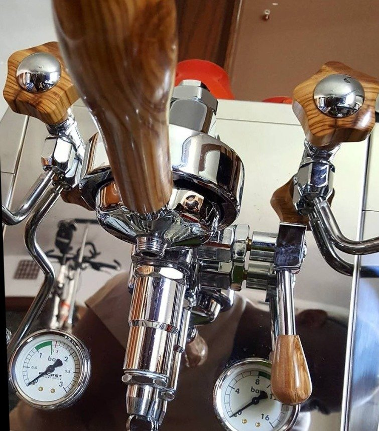 Rocket Giotto Evoluzione Premium Plus Australian Olivewood Coffee Parts
