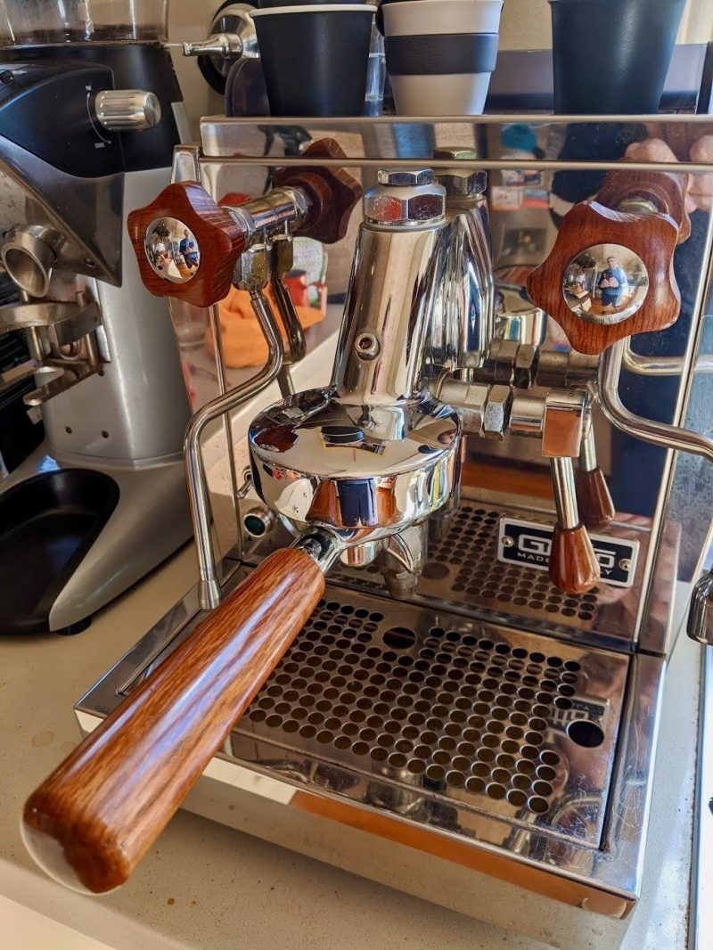 Rocket Giotto Evoluzione Premium Plus Australian Sheoak Coffee Parts