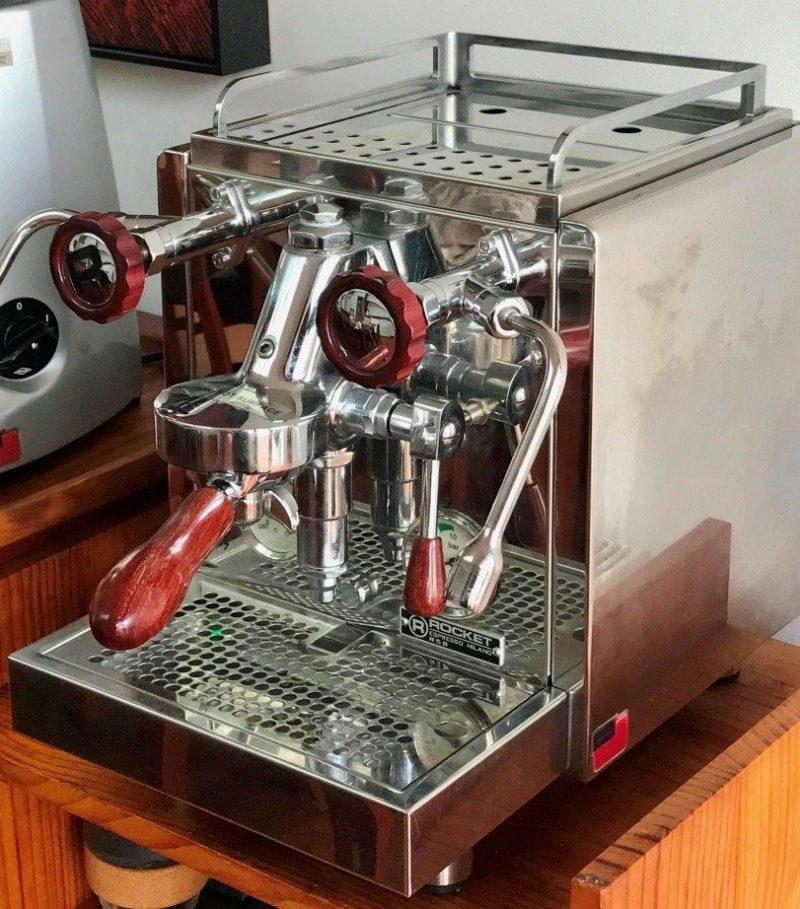 Rocket Giotto Evoluzione Premium Plus Bespoke Timber Coffee Parts